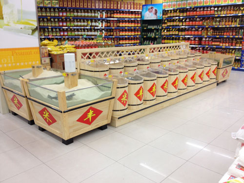 杂粮暂时四方格货柜