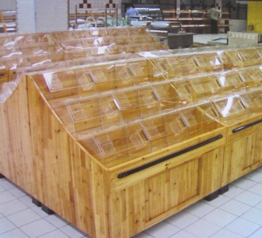 零食木质货架
