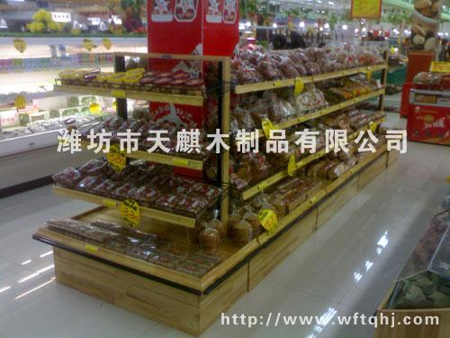 蛋糕西点展示木头货架006